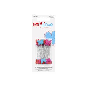 Plastic-headed pins 50x0.60mm, assorted - Prym Love   The Knitting Club