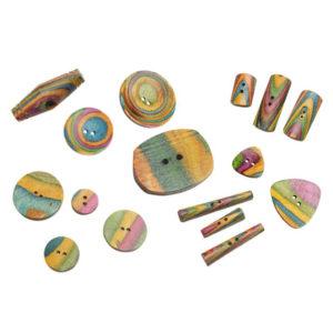 Χειροποίητα ξύλινα χρωματιστά κουμπιά-KnitPro   The Knitting Club
