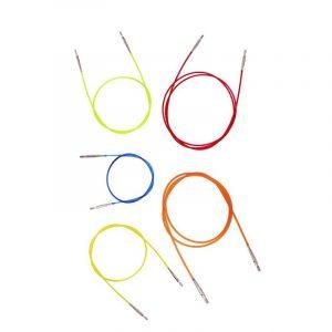 Καλώδιο εναλλάξιμης βελόνας, χρωματιστό-KnitPro   The Knitting Club