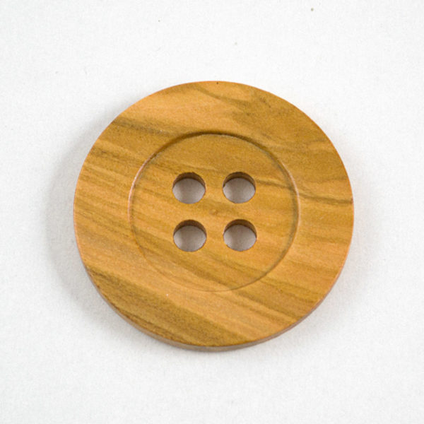 Button - natural olive wood | The Knitting Club