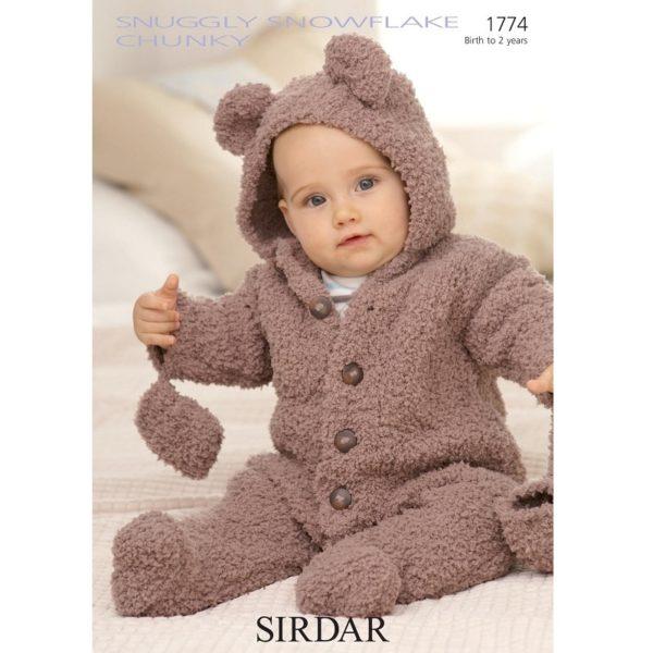 Παιδικό φορμάκι αρκουδάκι, με Snuggly Snowflake Chunky - 1774 | The Knitting Club