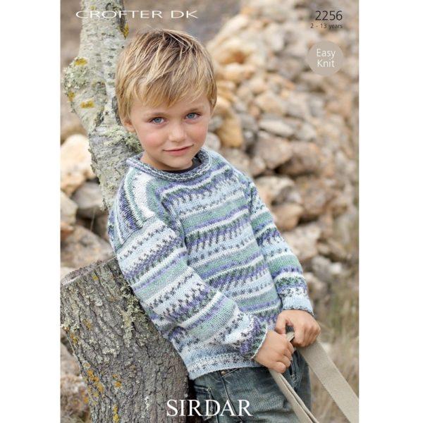 Παιδικό πουλόβερ, με Sirdar Crofter DK - 2256 | The Knitting Club
