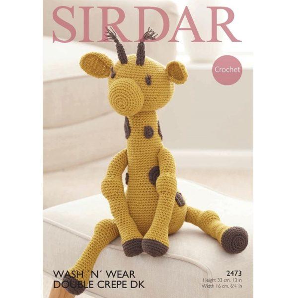 Κουκλάκι Καμηλοπάρδαλη, με Sirdar Wash 'n' Wear Double Crepe DK - 2473 | The Knitting Club