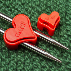 Needle stoppers addiToGo 'hearts'-Addi | The Knitting Club