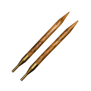 Interchangeable needles Addi-Click Nature Olivewood Set | The Knitting Club