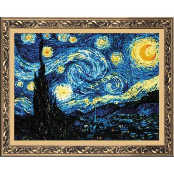 Riolis - Starry Night after Van Gogh's Painting - 1088 | The Knitting Club