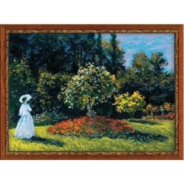 Riolis - Woman in the Garden after Monet's Painting - 1225 | The Knitting Club