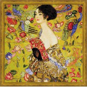 Riolis - Η κυρία με την βεντάλια του Γκούσταβ Κλιμτ - 1226 | The Knitting Club