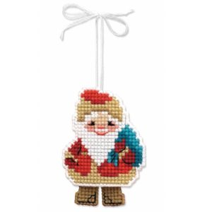 Riolis - Christmas Tree Decoration Santa Claus - 1538AC | The Knitting Club