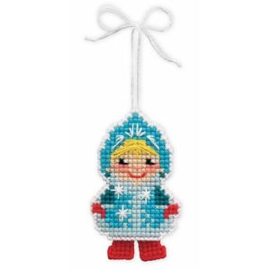 Riolis - Christmas Tree Decoration Snow Maiden - 1539AC | The Knitting Club