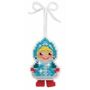 Riolis - Χριστουγεννιάτικη Διακόσμηση Το Κορίτσι του Χιονιού - 1539AC | The Knitting Club