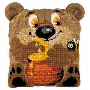 Riolis - Teddy Bear Cushion - 1590 | The Knitting Club