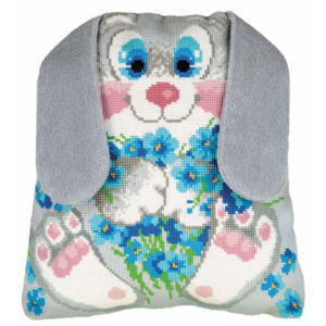 Riolis - Bunny Cushion - 1647 | The Knitting Club