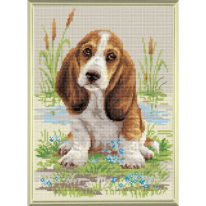 Riolis - Σκυλάκος Μπασέ Χάουντ DM - AM0005 | The Knitting Club