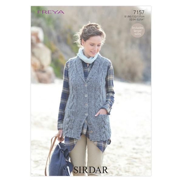Γυναικεία καζάκα, με Sirdar Freya Fashion Chunky - 7157   The Knitting Club