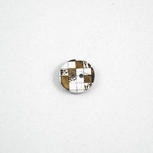 Κουμπί καρύδα φυσικό - Σκάκι | The Knitting Club
