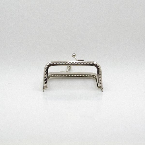 Metal purse frame - Silver simple | The Knitting Club