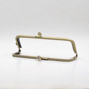 Metal purse frame - Bronze with crystal | The Knitting Club