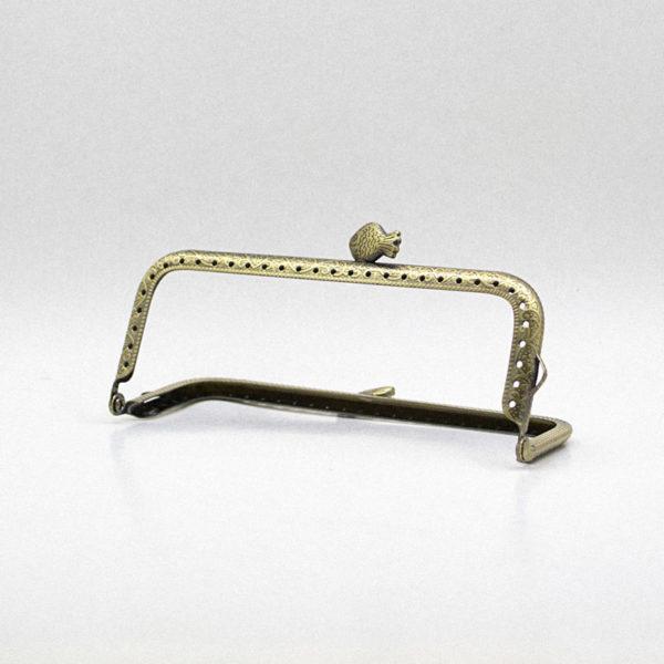 Metal purse frame - Bronze fish | The Knitting Club