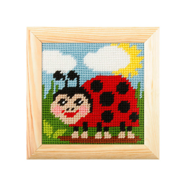 Orchidea Cowslip (halfstitch kit 10,5x10,5cm frame) | The Knitting Club