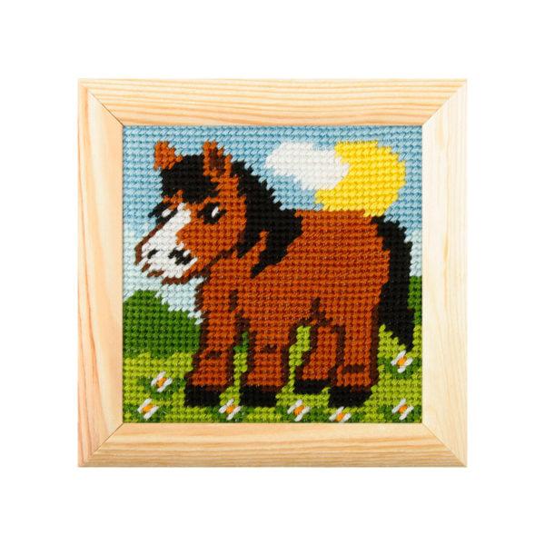 Orchidea Horse (halfstitch kit 10,5x10,5cm frame) | The Knitting Club