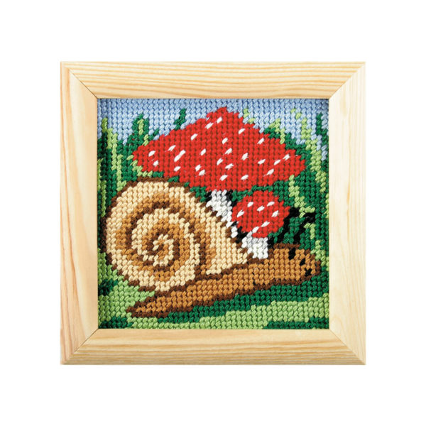 Orchidea Snail (halfstitch kit 10,5x10,5cm frame) | The Knitting Club