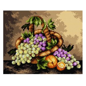 Orchidea Fruits (printed gobelin canvas 24x30cm) | The Knitting Club