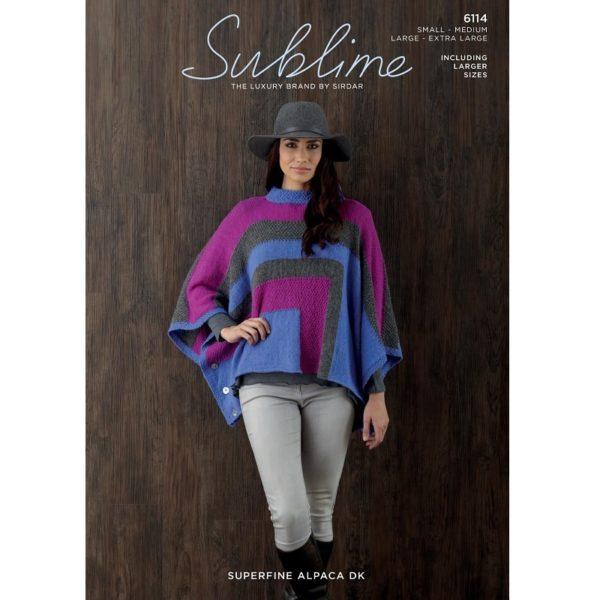 Πόντσο, με Sublime Alpaca Superfine DK - 6114 | The Knitting Club