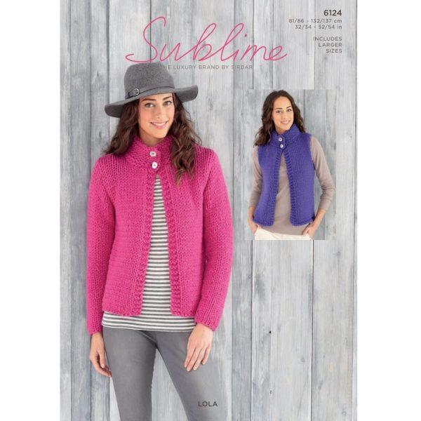 Γυναικεία ζακέτα και καζάκα, με Sublime Lola - 6124 | The Knitting Club