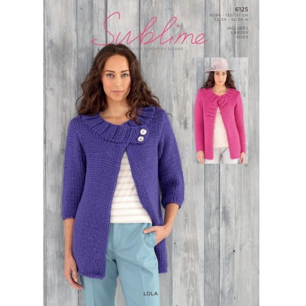 Γυναικείες ζακέτες-παλτό, με Sublime Lola - 6125 | The Knitting Club