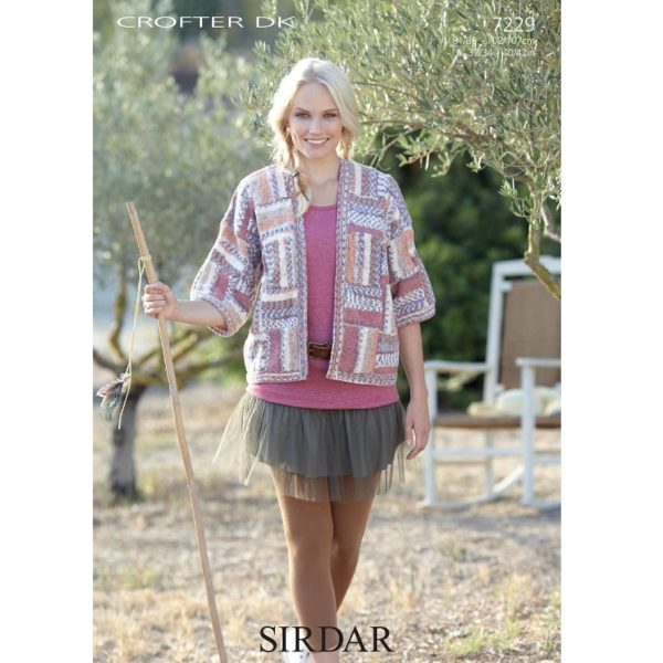 Γυναικεία ζακέτα, με Sirdar Crofter DK - 7229 | The Knitting Club