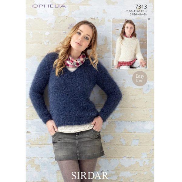 Πουλόβερ, με Sirdar Ophelia - 7313 | The Knitting Club
