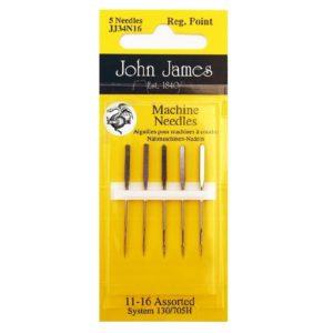 John James Needles - Βελόνες ραπτομηχανής - Γενικής χρήσης - Νο 80/11-100/16   The Knitting Club