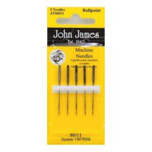 John James Needles - Βελόνες ραπτομηχανής - Στρογγυλεμένη μύτη - Νο 80/11   The Knitting Club