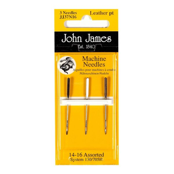 John James Needles - Sewing Machine Needles - Leather 14-16 | The Knitting Club