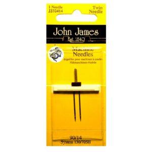 John James Needles - Βελόνες ραπτομηχανής - Διπλή μύτη - Νο 90/14-4mm   The Knitting Club