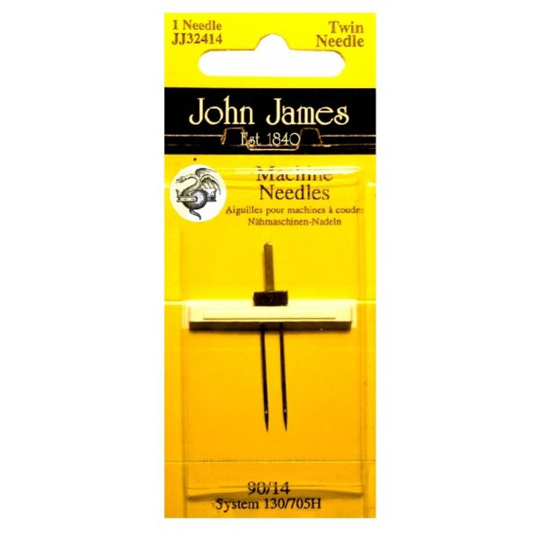 John James Needles - Sewing Machine Needles - Twin Pointed 90/14-4mm | The Knitting Club