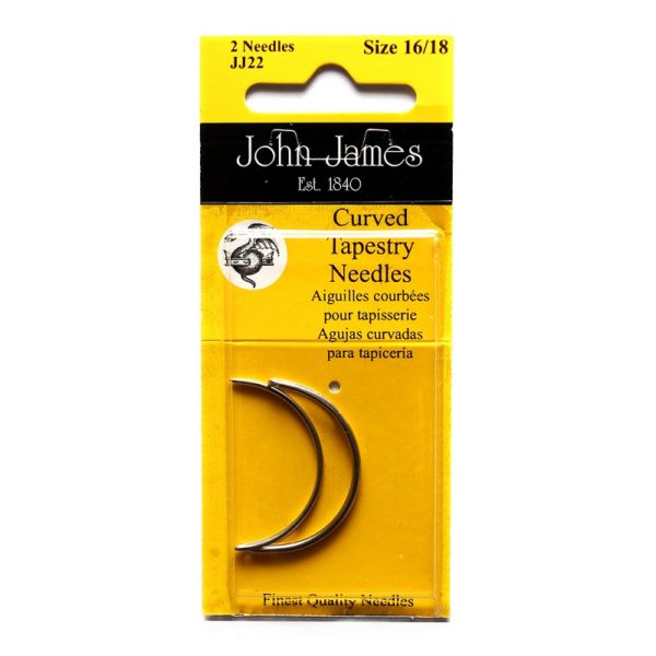 John James Needles - Curved Tapestry Needles - Size 16/18 | The Knitting Club