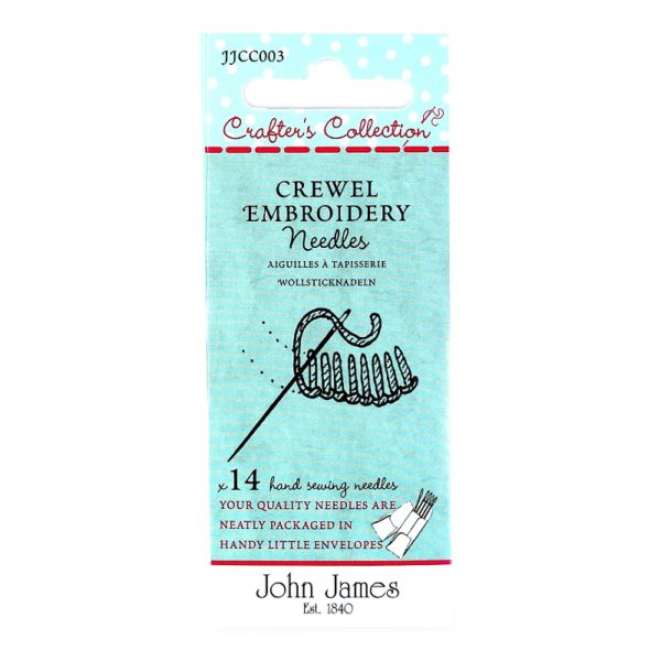 John James Needles - Crewel Embroidery Needles - Size Asst. | The Knitting Club