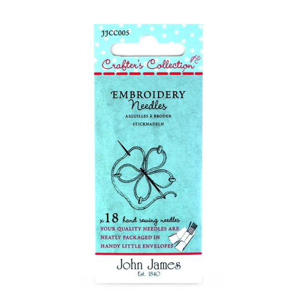 John James Needles - Embroidery Needles - Size 7/10 | The Knitting Club