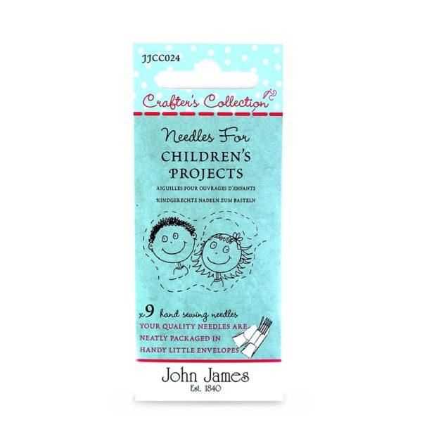 John James Needles - Σετ βελόνες χειροτεχνίας (για παιδιά) - Διάφορα νούμερα | The Knitting Club