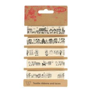 Κορδέλες 15mm σε διάφορα σχέδια - Σετ 5x1m | The Knitting Club