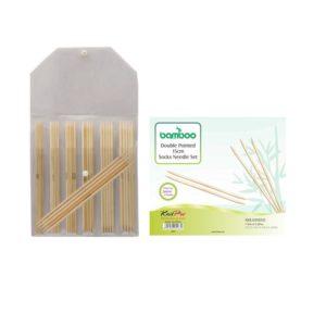 Σετ καλτσοβελόνες 15cm KnitPro-Bamboo   The Knitting Club