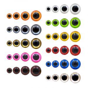 Safety eyes coloured - round hemispheres | The Knitting Club
