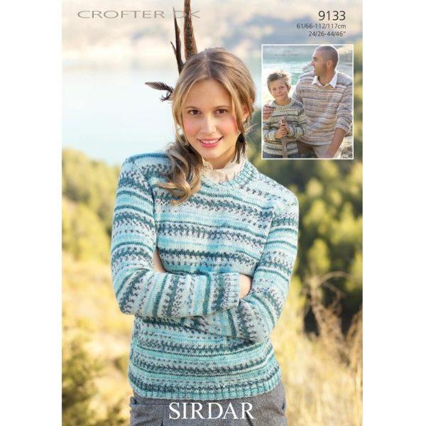 Πουλόβερ για όλους, με Sirdar Crofter DK - 9133 | The Knitting Club