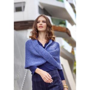 Lana Gatto - Σταυρωτή κάπα-πόντσο Alpaca Superfine   The Knitting Club