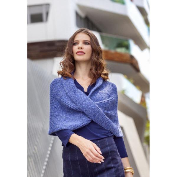 Lana Gatto - Σταυρωτή κάπα-πόντσο Alpaca Superfine | The Knitting Club