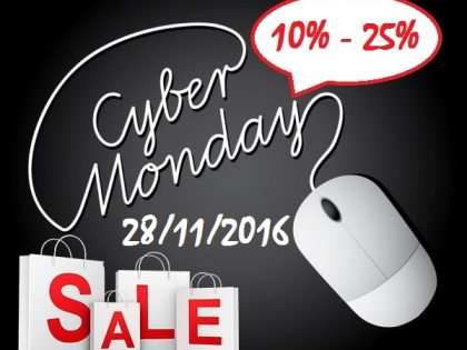 Cyber Monday 2016 discounts from 10%-25%!