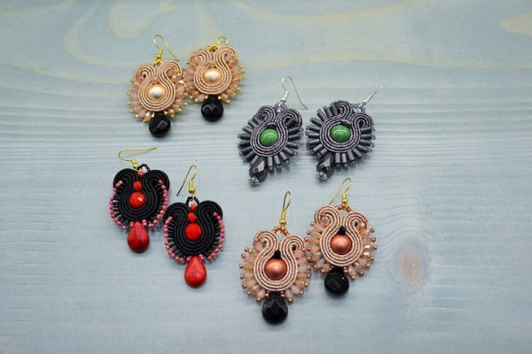 Jewellery seminar - Soutache earring A_2016