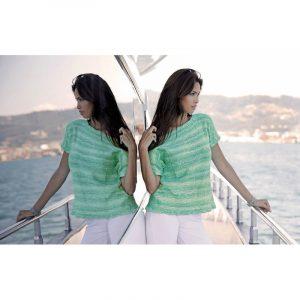 Lana Gatto - Πλεκτό T-shirt   The Knitting Club